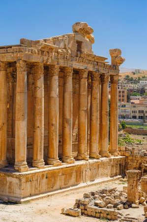 Baalbek Ancienne ville au Liban.Héliopolis complexe de temples. Près de la frontière avec la Syrie.remains Banque d'images - 92025116