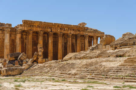 Baalbek Ancient city in Lebanon.Heliopolis temple complex.near the border with Syria.remains Banque d'images - 92052446