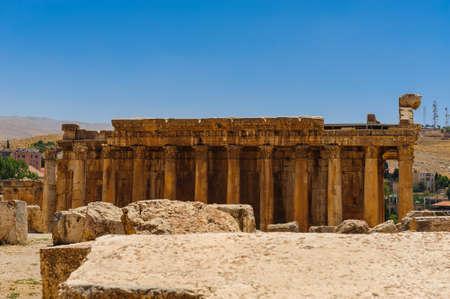 Baalbek Ancienne ville au Liban.Héliopolis complexe de temples. Près de la frontière avec la Syrie.remains Banque d'images - 92025115