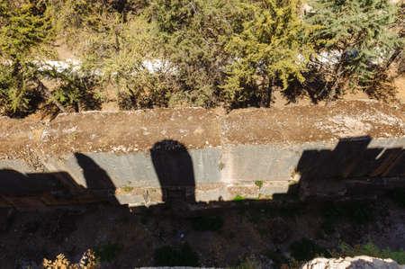 Fondation Baalbek Ancienne ville au Liban. Complexe de temples de Heliopolis. près de la frontière avec la Syrie.remains Banque d'images - 92040541