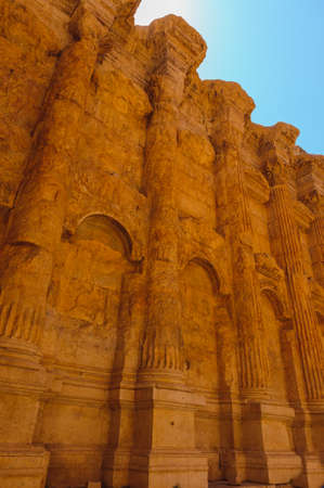 Baalbek Ancient city in Lebanon.Heliopolis temple complex.near the border with Syria.remains Banque d'images - 93088909