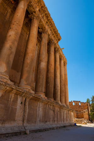 Baalbek Ancient city in Lebanon. Heliopolis temple complex near the border with Syria.