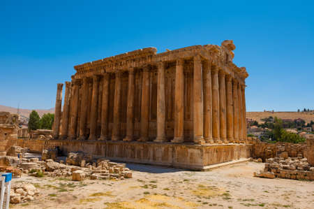 Baalbek Ancient city in Lebanon.Heliopolis temple complex.near the border with Syria.remains Banque d'images - 93088908