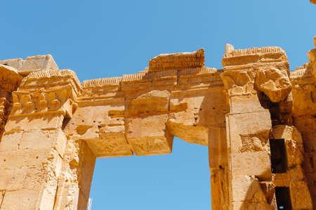 Baalbek Ancienne ville au Liban.Héliopolis complexe de temples. Près de la frontière avec la Syrie.remains Banque d'images - 92880273