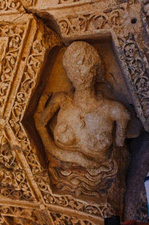 Aphrodite Baalbek Ancienne ville au Liban.Hélopolis complexe de temples. Près de la frontière avec la Syrie.remains Banque d'images - 92880275