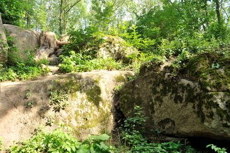 Sofiyivsky Park landscape Uman, Cherkasy Oblast, Ukraine, near Kamianka River.