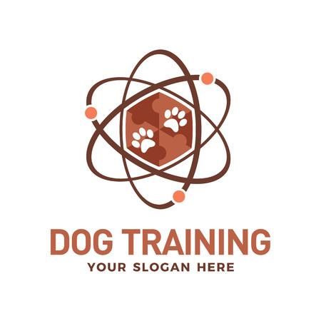 Dog training technology logo design template
