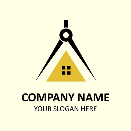 Architects design logo template