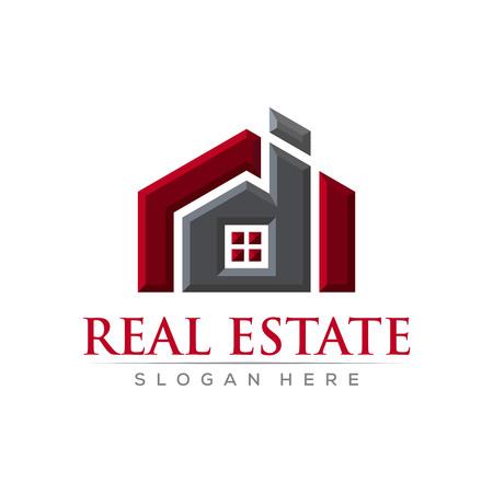 Realestate bevel vector logo design template