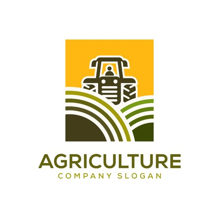 agriculture vector logo design template element