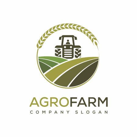 agro farm vector logo design template