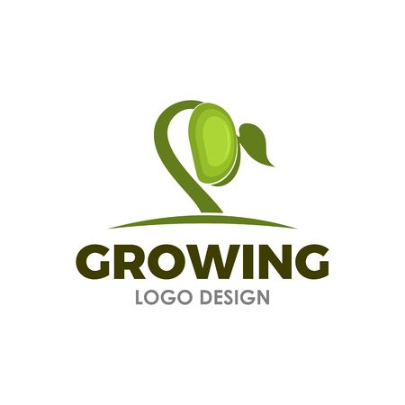 ispirazione per il design del logo del seme in crescita