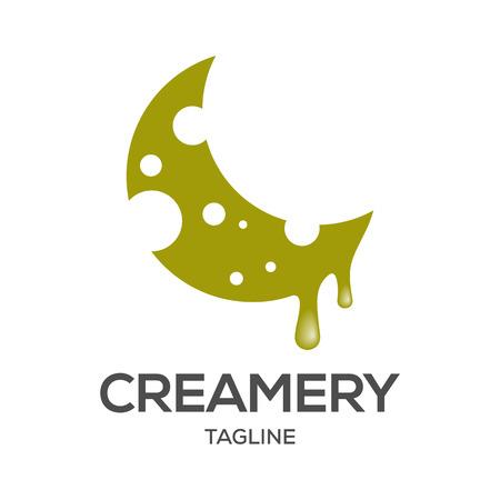 Creamery logo design template Фото со стока - 117776005