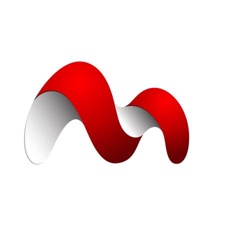 Initial M letter logo design template