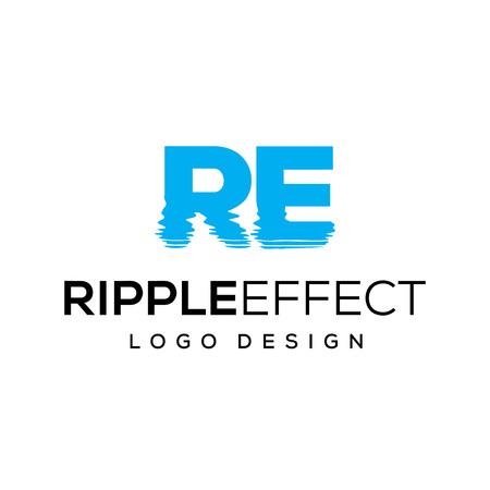Ripple effect logo design template