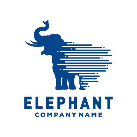 Elephant vector logo template Иллюстрация