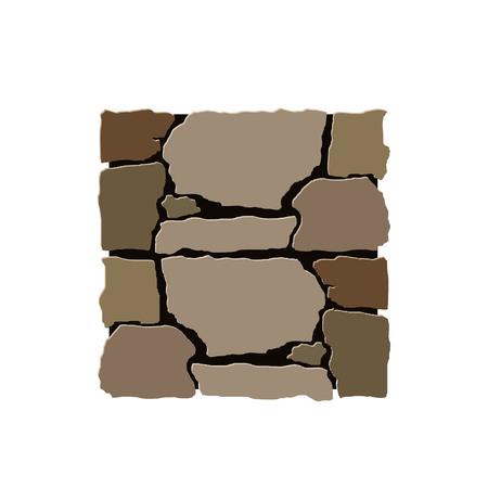 Stone installation vector element Фото со стока - 117776121