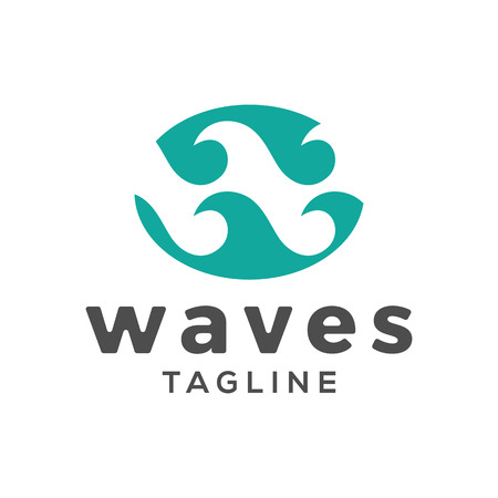 Waves, initial W vector logo inspiration