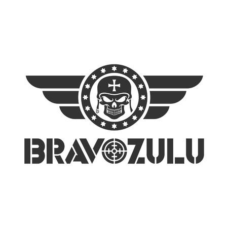 bravo zulu design logo template