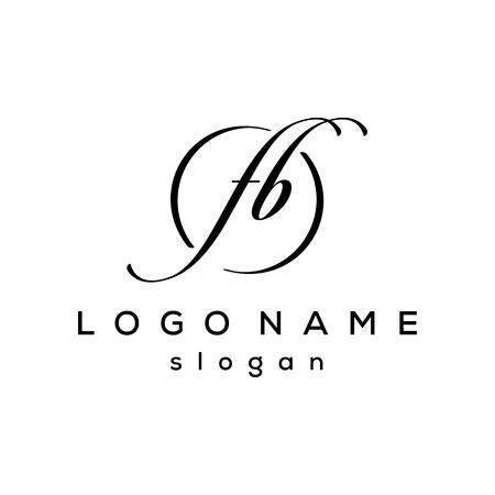 initial FB letter logo template Фото со стока - 117776138