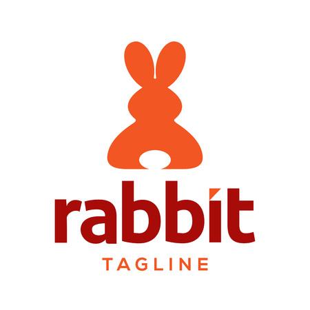 rabbit logo vector design template Иллюстрация