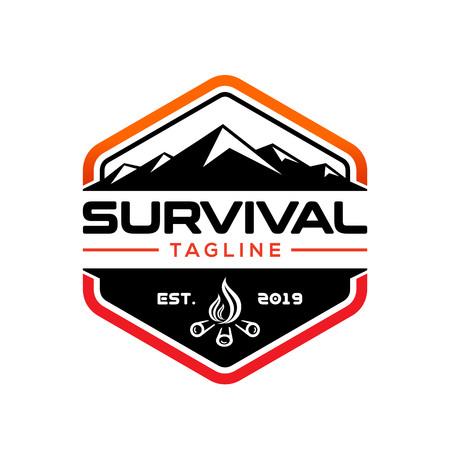 Modello di logo di design di sopravvivenza