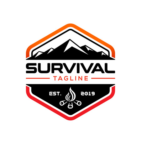 Survival design logo template