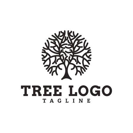 Tree logo vector design template