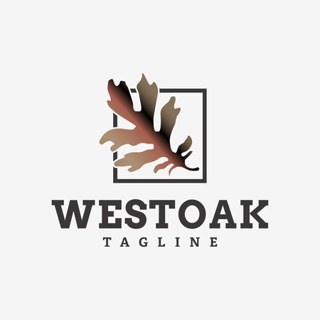 west oak logo design template 일러스트