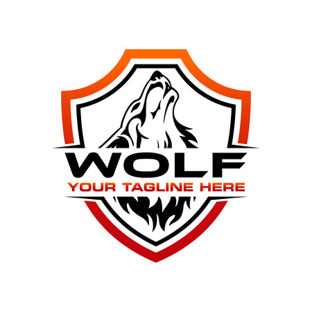 wolf logo design template Фото со стока - 117776229