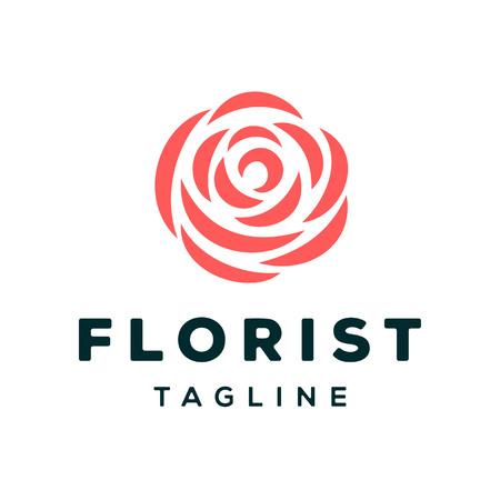 Florist Logo Design Template Иллюстрация
