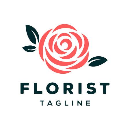 Florist Vector Logo Design Template