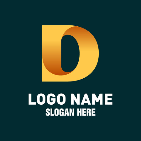 Initial D Logo Vector Design Template Иллюстрация