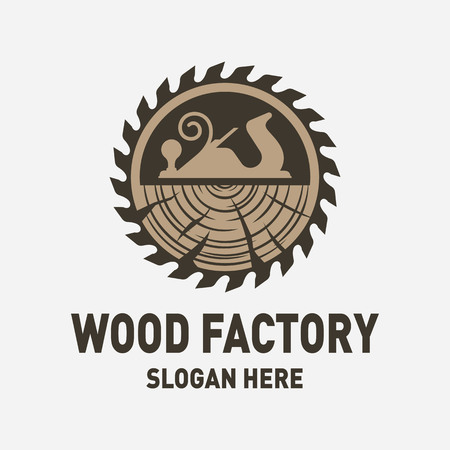 Wood Factory Logo Design Inspiration Фото со стока - 117776241
