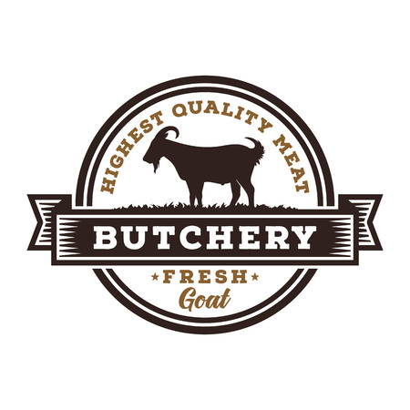 Fresh Goat Meat Logo Template