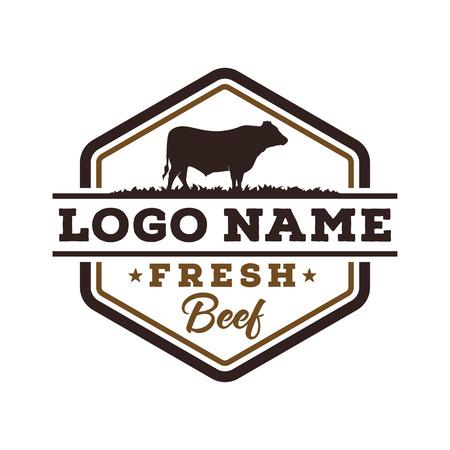 Design del logo di manzo fresco