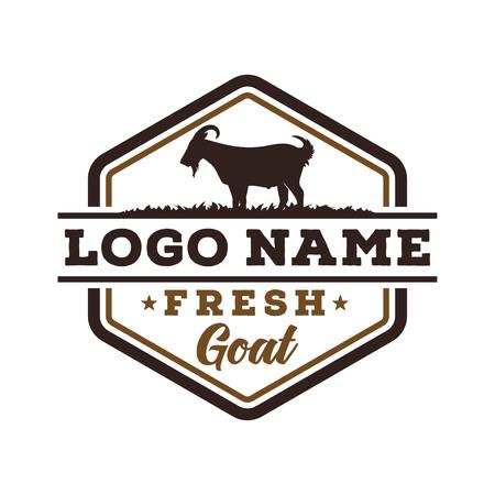 Fresh goat logo design