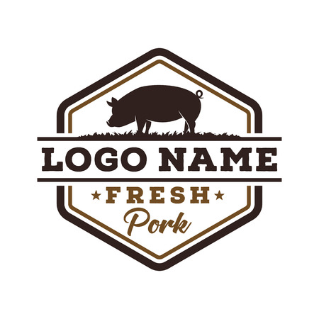 Fresh pork logo design