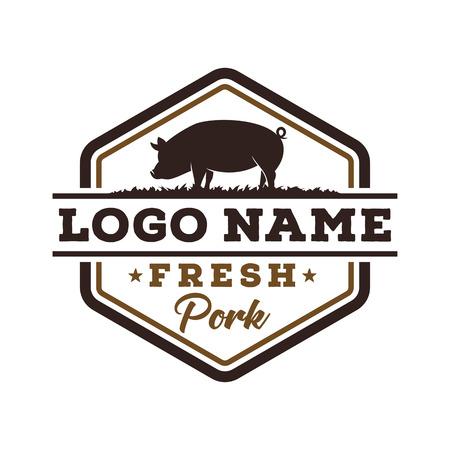 Fresh pork logo design
