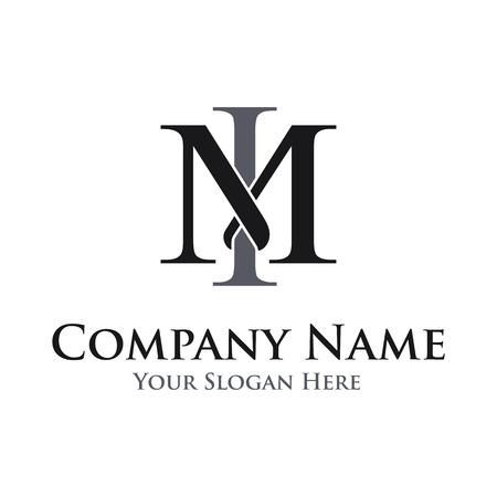 Letter MI vector logo template