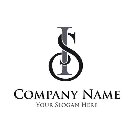Letter SI vector logo template