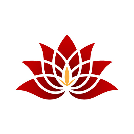 Gold Diamond Lotus Flower logo Illustration