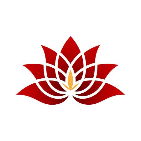 Gold Diamond Lotus Flower logo Illustration