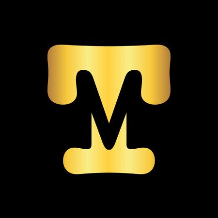 initial TM letter logo design template