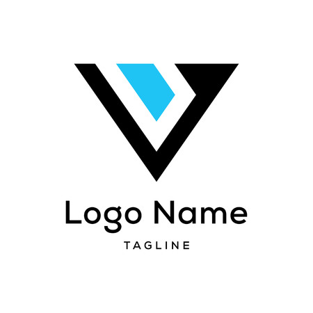 Initial V abstract simple logo Иллюстрация