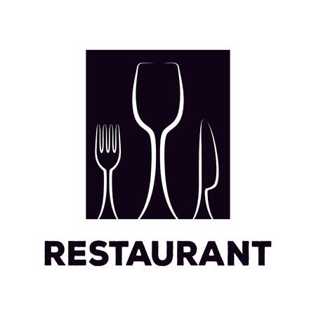 Restaurant logo design template as a source of inspiration