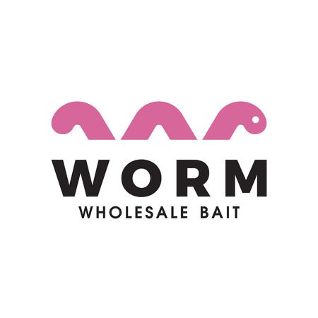 Worm Wholesale bait logo design inspiration Иллюстрация