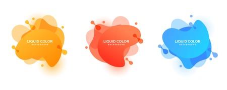 Liquid color background vector design template. Fluid gradient shapes composition