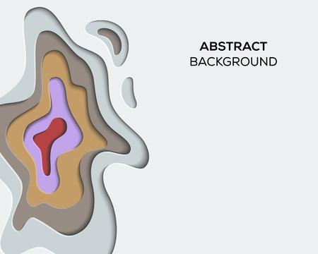 3D Paper cut abstract design inspiration