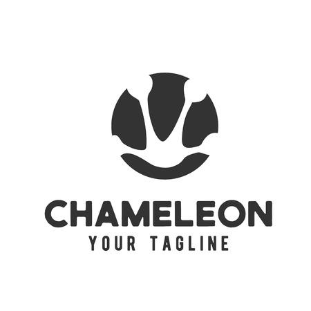 Chameleon footprints logo design Фото со стока - 119348850
